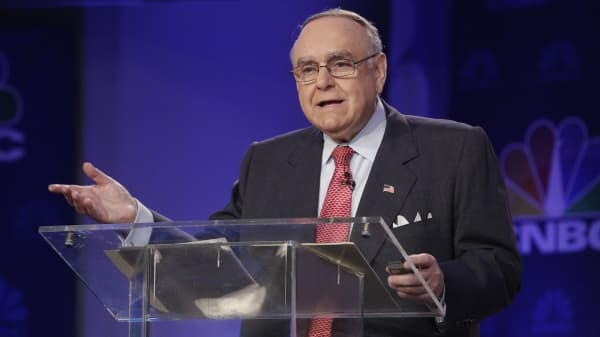 Omega Advisors CEO Leon G. Cooperman speaks at the CNBC Institutional Investor Delivering Alpha Conference in New York.