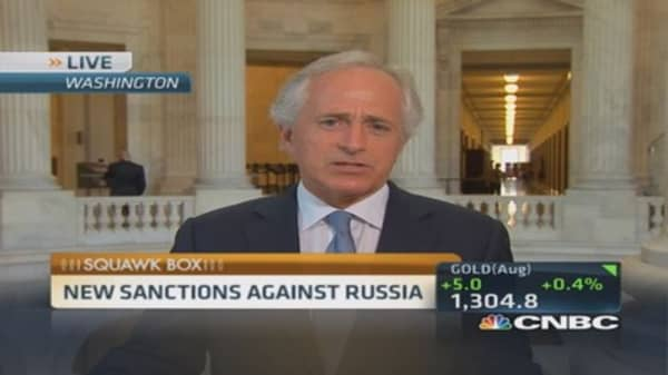 New US sanctions against Russia 'outstanding': Corker