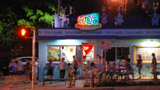 An Amy's Ice Creams in Austin, Texas.