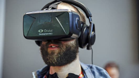 In June, Oculus showcased its VR Rift Development Kit 2 headset at the E3 Electronic Entertainment Expo in Los Angeles.
