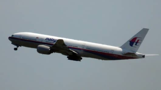 Photo shows Malaysia Airlines flight MH17 leaving Schiphol Airport in Schiphol, the Netherlands, on July 17, 2014.