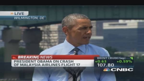 Obama on Malaysia: Thoughts & prayers with passengers¿ families