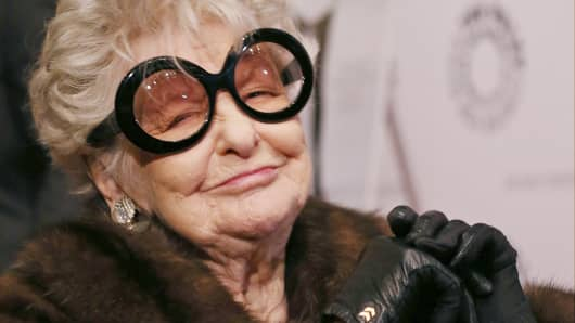 """Elaine Stritch attends the New York screening of """"Elaine Stritch: Shoot Me"""" at Paley Center For Media in New York."""