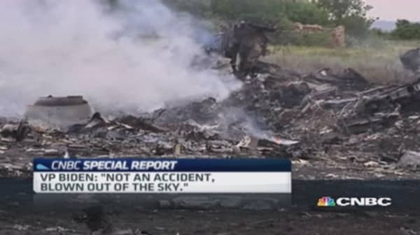 Malaysia Airlines flight shot down