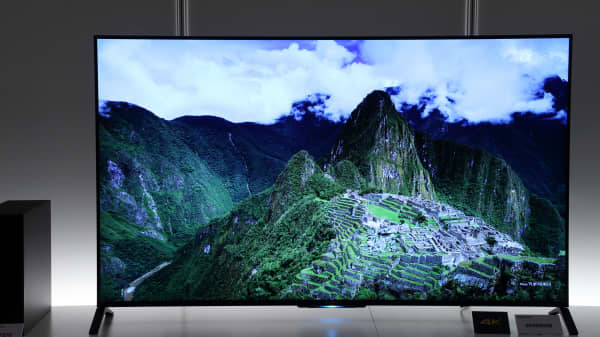 Sony's 4K Bravia liquid-crystal-display television.
