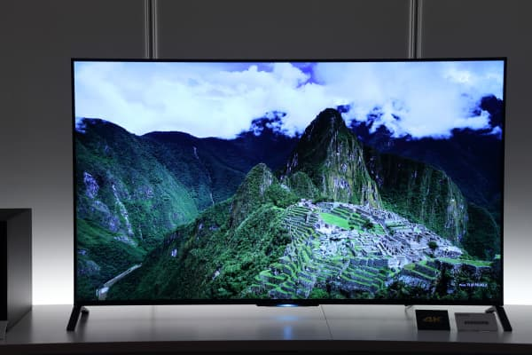 Sony's 4K Bravia liquid-crystal-display television.