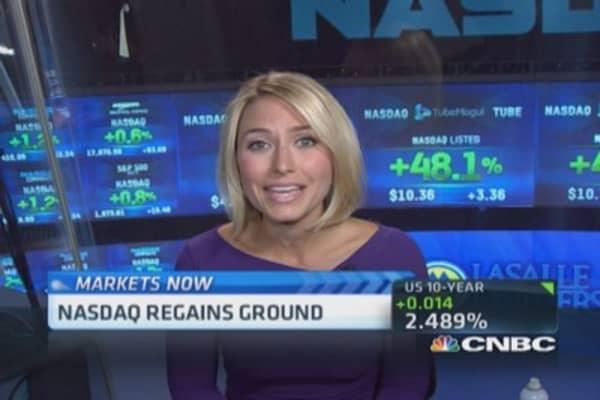 Positive earnings boost Nasdaq