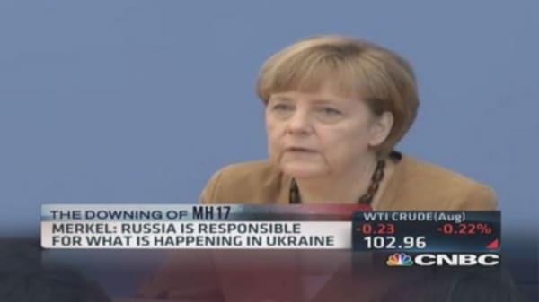 Merkel: Russia responsible for Ukraine events
