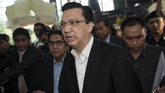 Malaysia's newly appointed Transport Minister Liow Tiong Lai