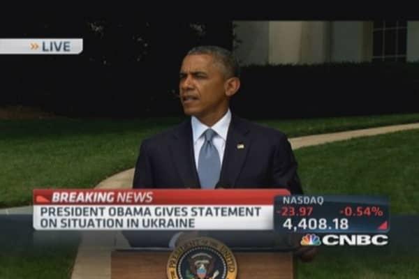 Pres. Obama calls for ceasefire in Gaza