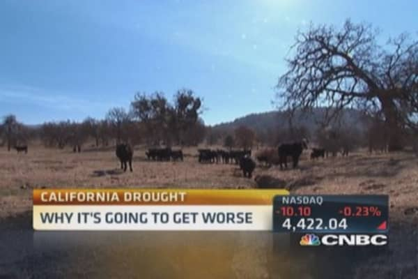 Drought costing California