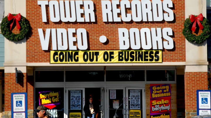 Tower Records on Rockville Pike and nationally is going out of business and trying to sell everything.