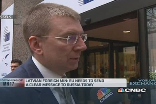 EU should ban military exports to Russia: Latvian min