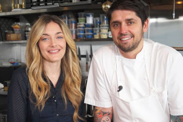 """Waylynn Lucas, from CNBC's """"Restaurant Startup"""" and Ludo Lefebvre, chef and co-host of """"The Taste."""""""