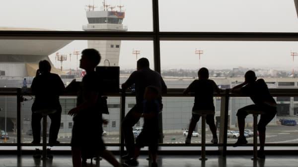 Passengers at Israel's Ben Gurion International Airport, Israel.