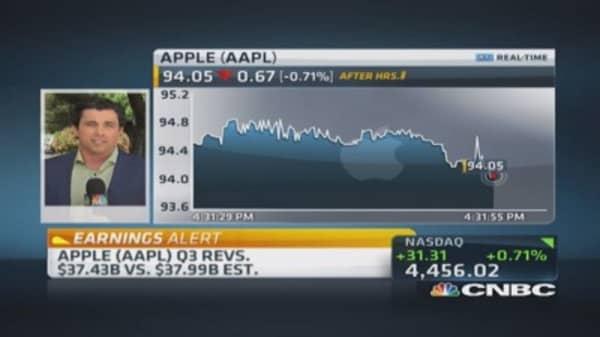 Apple reports Q3 EPS beat
