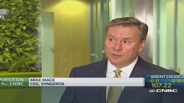 Syngenta has seen Ukraine crisis headwinds: CEO