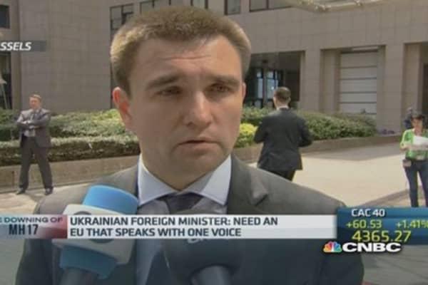 Ukraine needs 'united' EU position: Foreign min