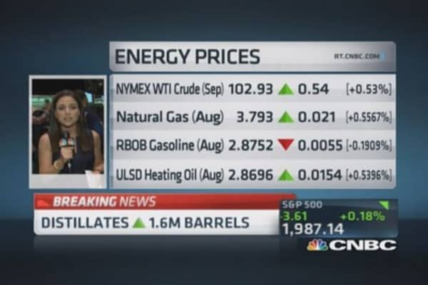 Crude oil inventories down 4 million barrels