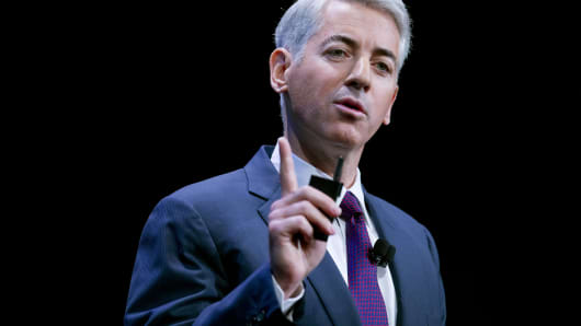 Pershing Square Capital Management CEO Bill Ackman speaks during an event in New York.