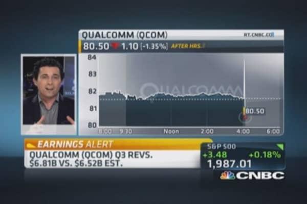 Qualcomm Q3 beats; guides weak