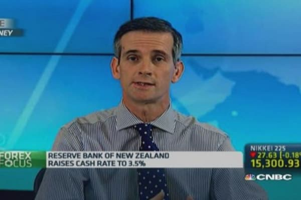 What is the purpose of RBNZ's fourth rate hike?