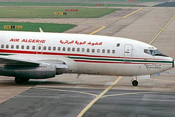 An Air Algerie jet is shown at Berlin's Schoenefeld Airport.