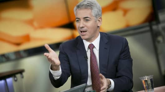Pershing Square Capital Management CEO Bill Ackman speaks during an interview in New York.