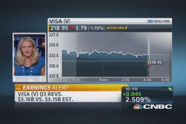 Visa Q3 profits strong