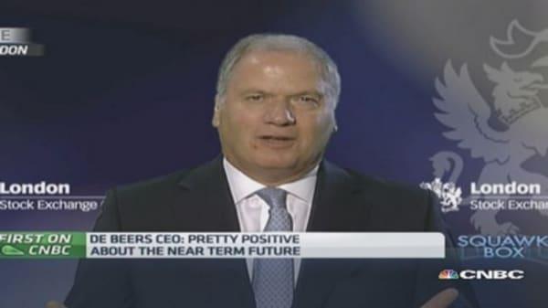 China, India driving diamond desire: De Beers CEO