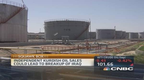 Kurdish oil tanker to offload in US