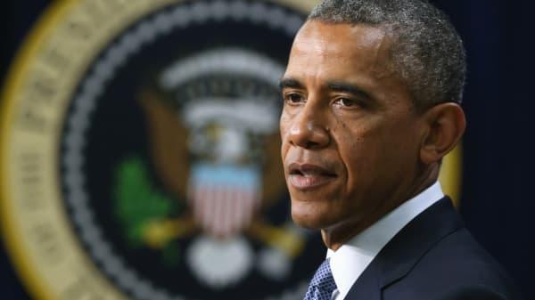President Barack Obama speaks July 22, 2014 in Washington.