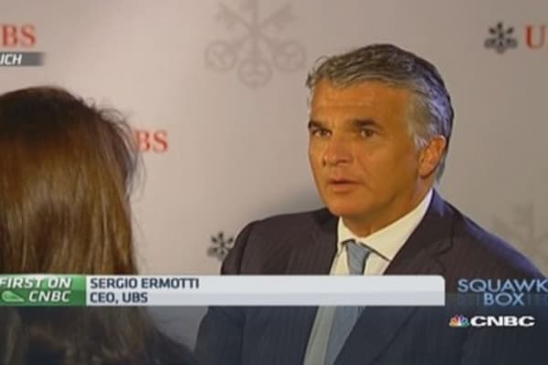 UBS model working in 'tough' conditions: CEO
