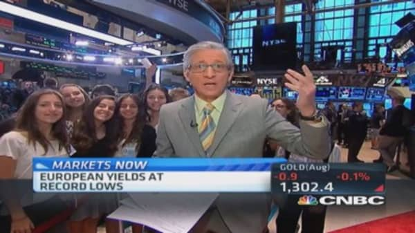 Pisani's market open: European yields record lows