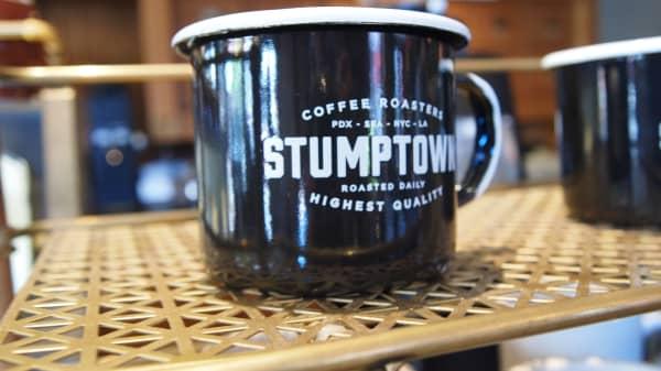 A mug from Stumptown Coffee