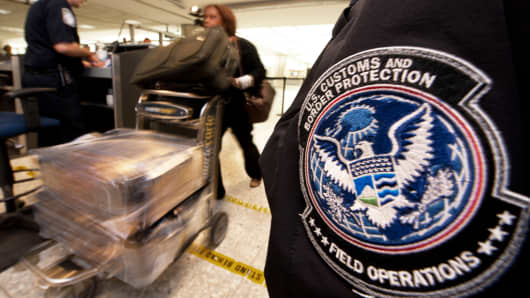 A U.S. Customs and Border Protection Officer at an airport