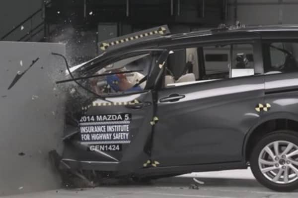 How small electric cars fare in new crash tests