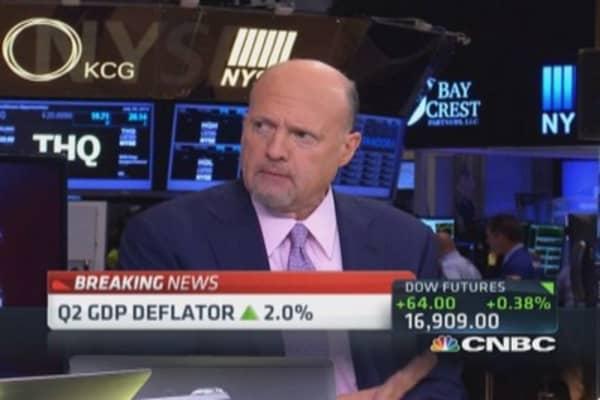 Cramer: Economy defying expectations