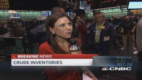 Crude oil inventories down 3.7 million barrels