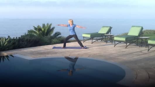 Jane finds inner peace on the Malibu coast.