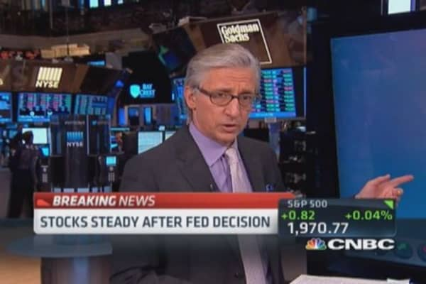 Stocks steady post-Fed