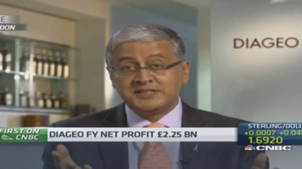 Diageo will focus on EMs despite China hit: CEO