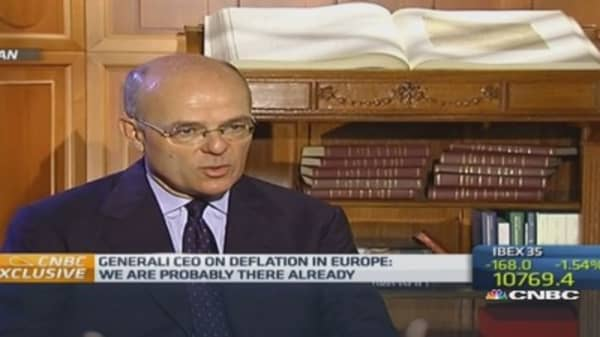 Euro zone probably in deflation: Generali CEO