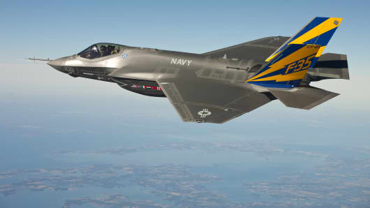 The U.S. Navy variant of the F-35 Joint Strike Fighter.