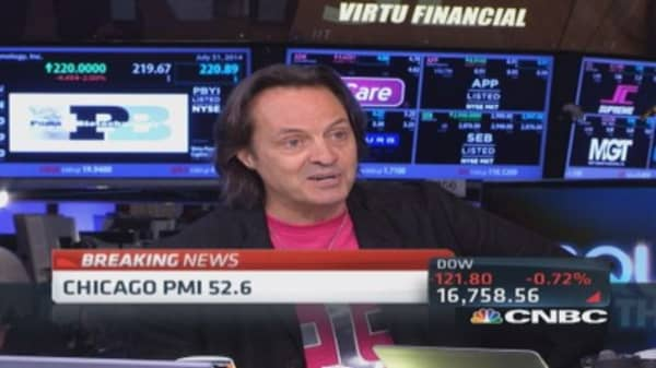 T-Mobile CEO on Sprint: We'll pass them