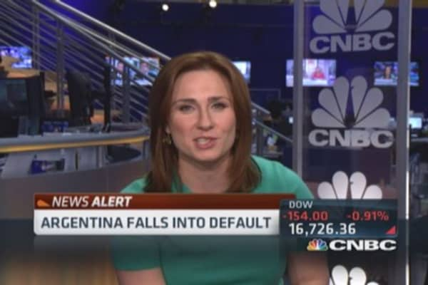 Argentina disputing debt default