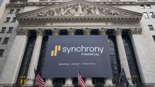 Synchrony Financial opens its IPO at the NYSE on July 30, 2014.