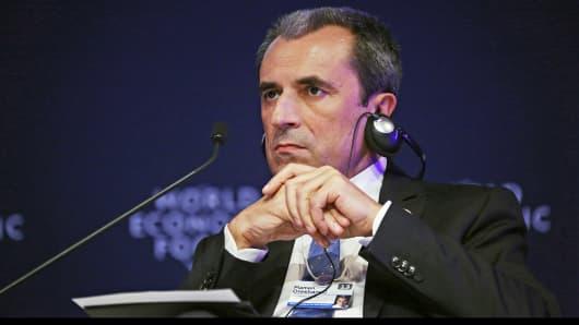 Bulgarian Prime Minister Plamen Orecharski listens during the World Economic Forum Annual Meeting Of The New Champions in Dalian, China.