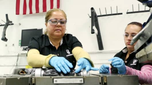 Workers craft Trek Bicycles in Waterloo, Wis. Most bikes, however, are manufactured in Asia.