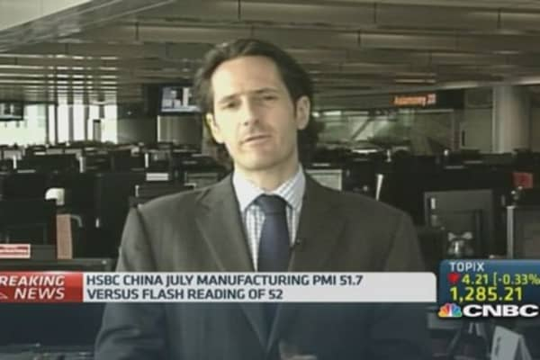 China PMI readings indicate recovery: HSBC